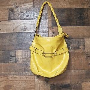 Emma JamesYellow Hobo bag with texture
